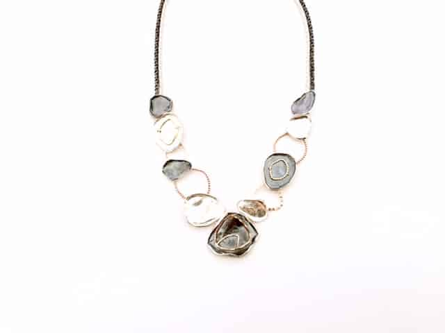 Dganit-Hen-necklace-silver-rose-gold-with-attached-detail