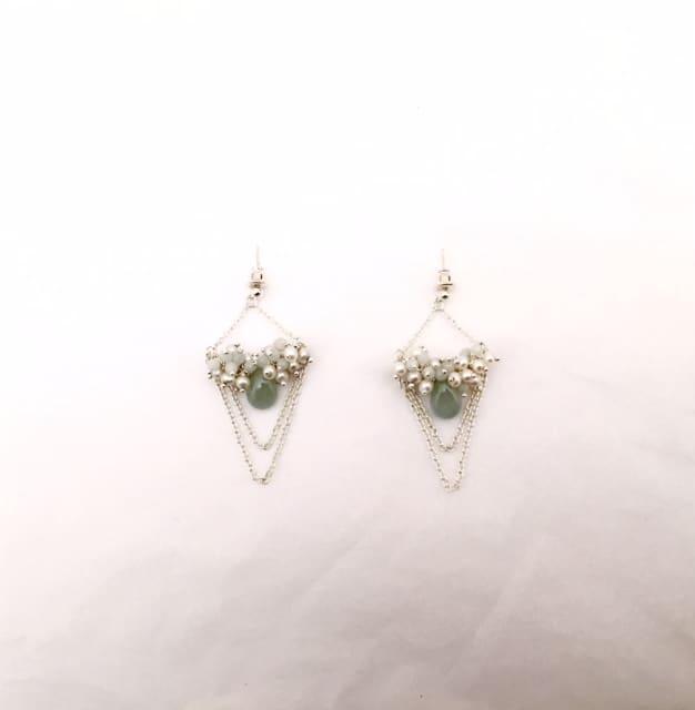 Elizabeth-Bower-pearl-earrings-chain-dangle-1