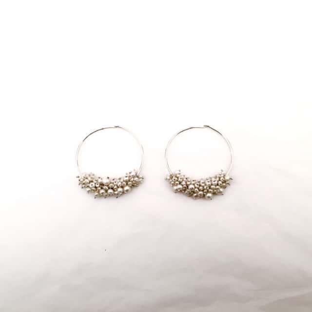 Elizabeth-Bower-pearl-hoop-earrings