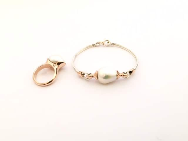 Francois-Payet-rose-gold-pearl-ring-and bracelet