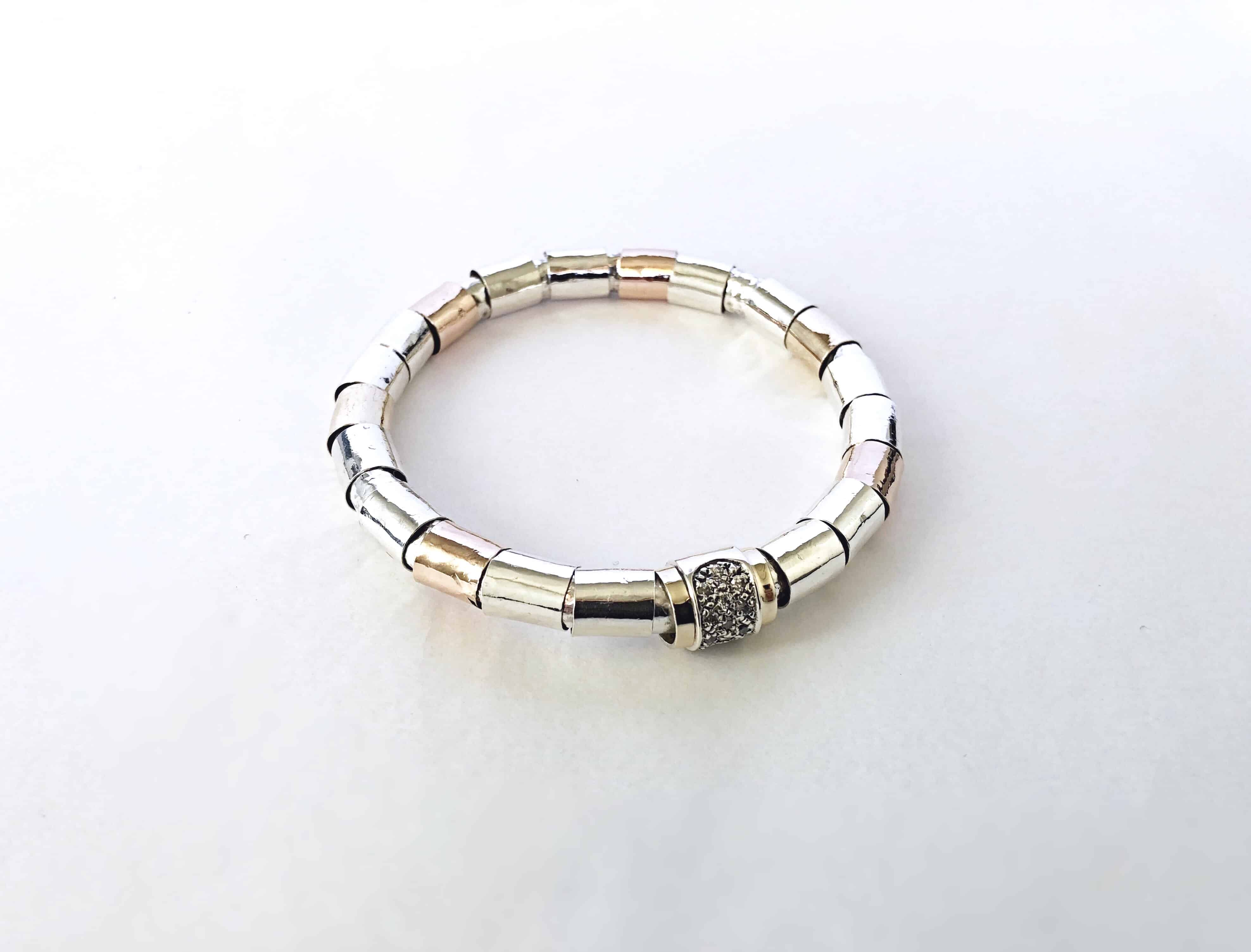 Hayon-bangle-with-silver-rose-gold-tubes-wrapped-around