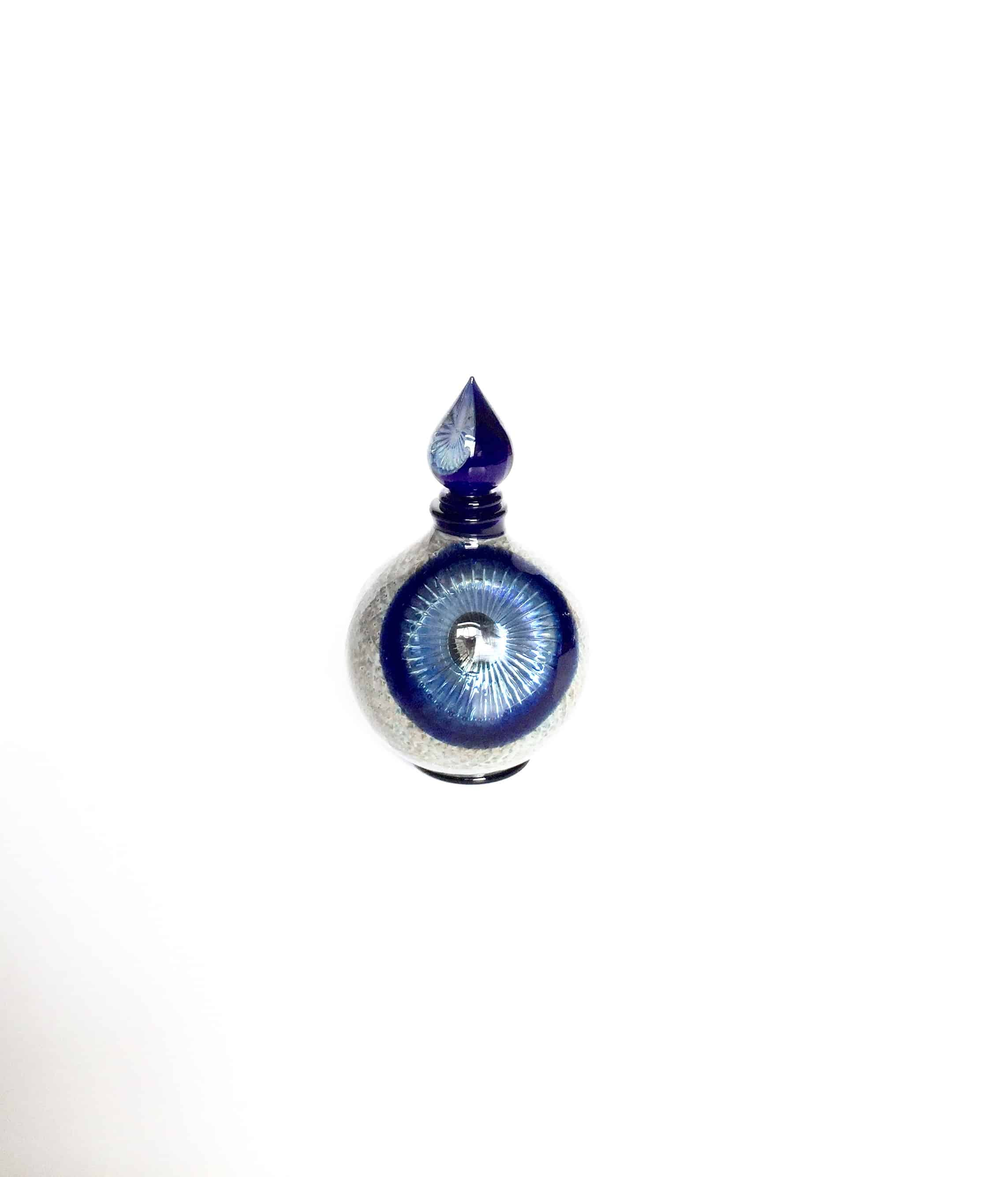 Richard-Clements-perfume-bottle-round-blue-dark-stopper