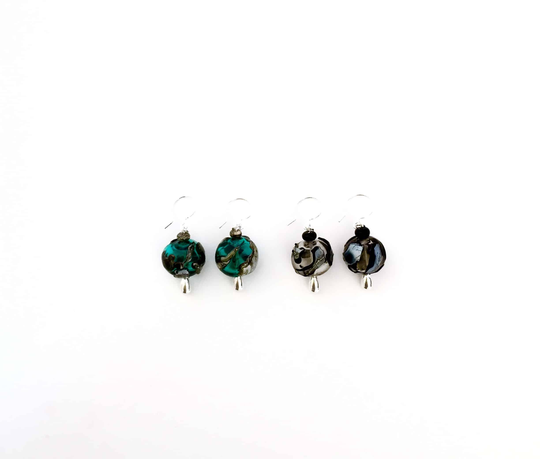 Sue-Bishop-earrings-hook-aqua-grey